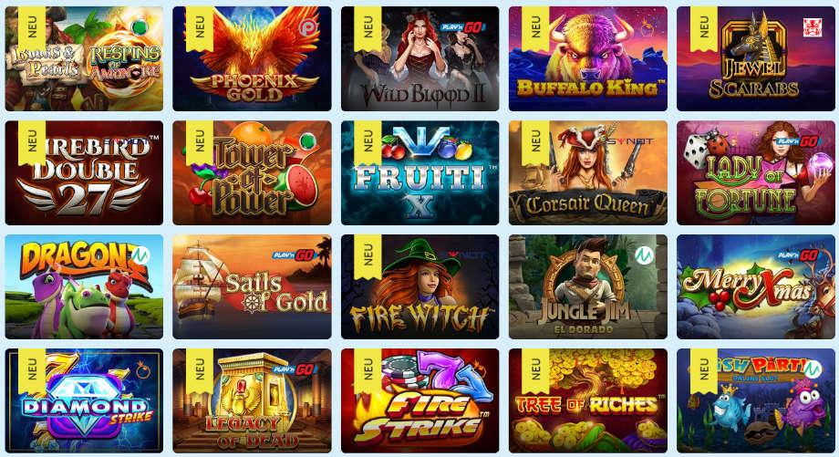 Verschiedene Casino Spiele beiPlayFrank