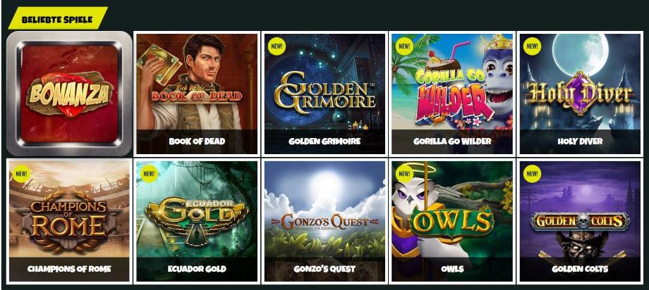 Verschiedene Casino Spiele bei Prank