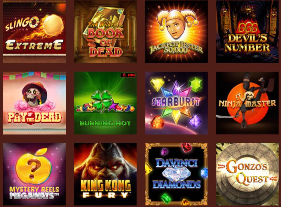 Verschiedene Casino Spiele bei Queenvegas