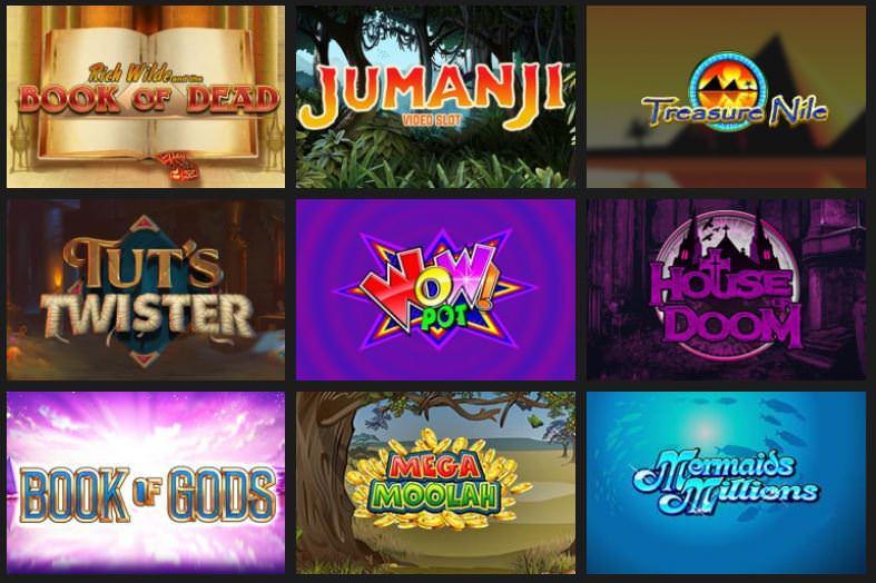 Verschiedene Casino Spiele bei ShadowBet