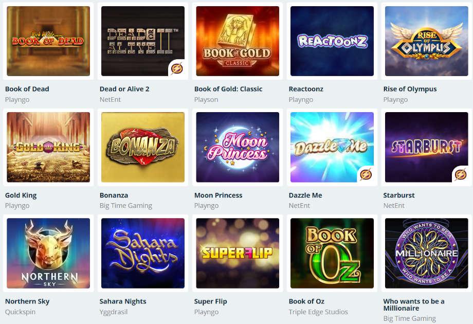 Verschiedene Casino Spiele bei SimpleCasino