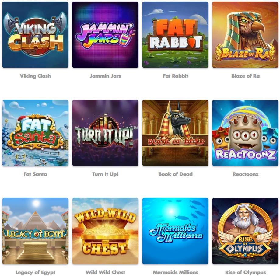 Verschiedene Casino Spiele bei SlottyVegas