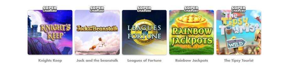 Die Supercharged Spiele bei SlottyVegas