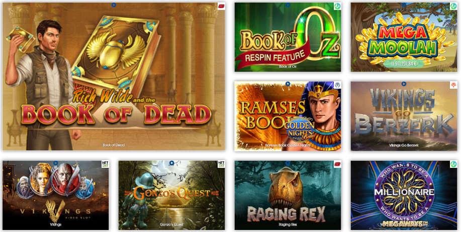 Verschiedene Casino Spiele bei Sloty