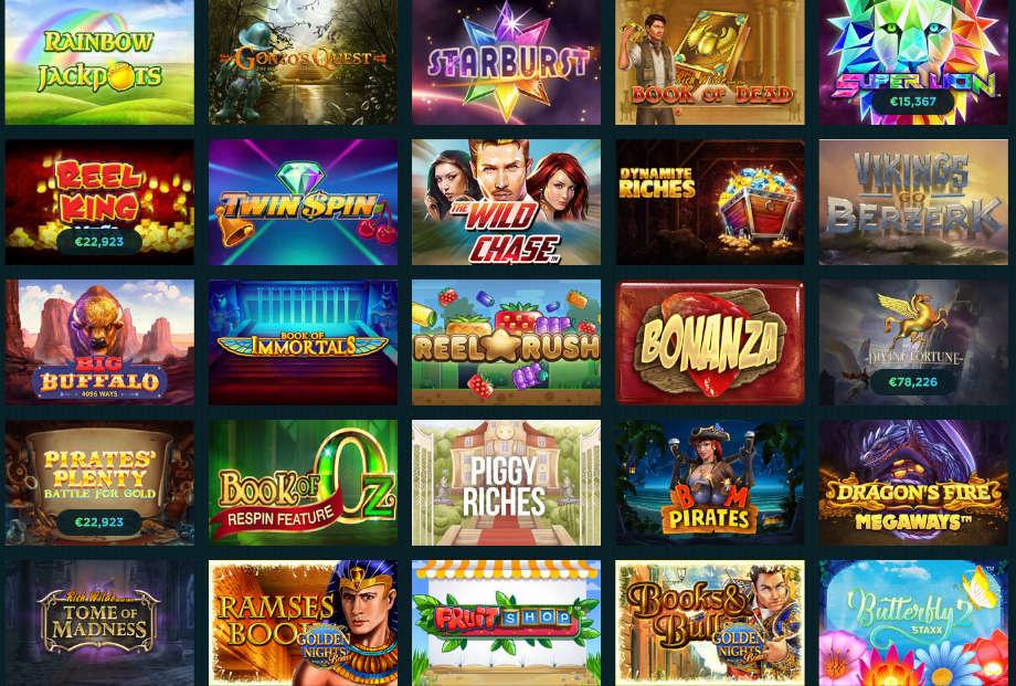 Verschiedene Casino Spiele bei Spela Casino