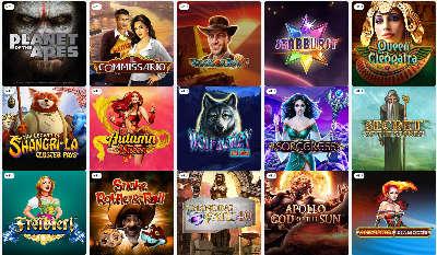Verschiedene Casino Spiele bei Spintastic