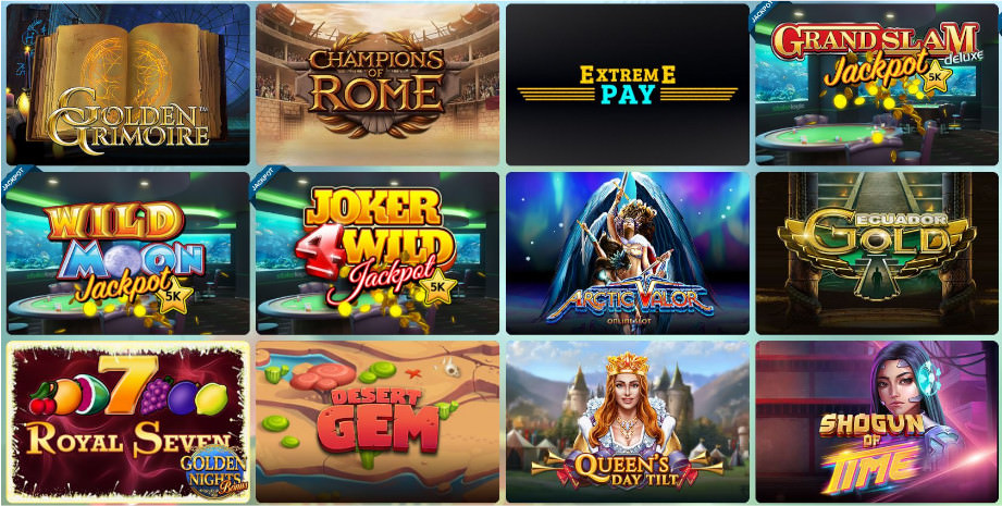Verschiedene Casino Spiele bei Sunnyplayer