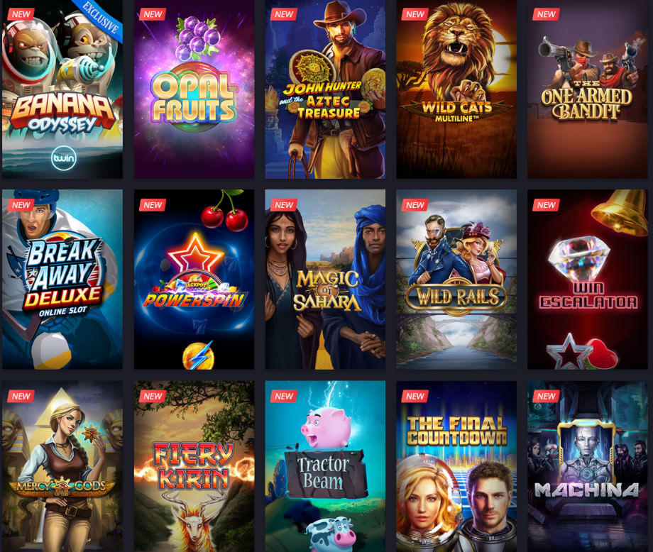 Verschiedene Casino Spiele bei Twin