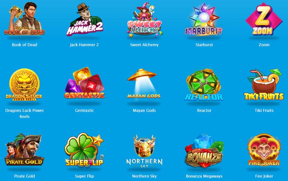 Verschiedene Casino Spiele bei Vera&John