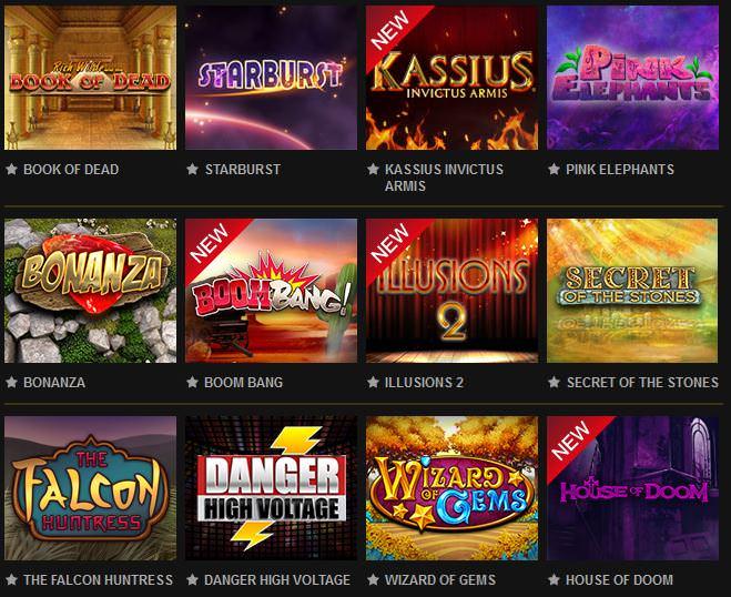 Verschiedene Casino Spiele bei Videoslots
