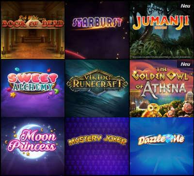 Verschiedene Casino Spiele bei VoodooDreams