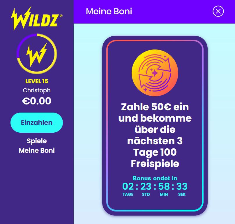 Wildz-Level-Aufstieg
