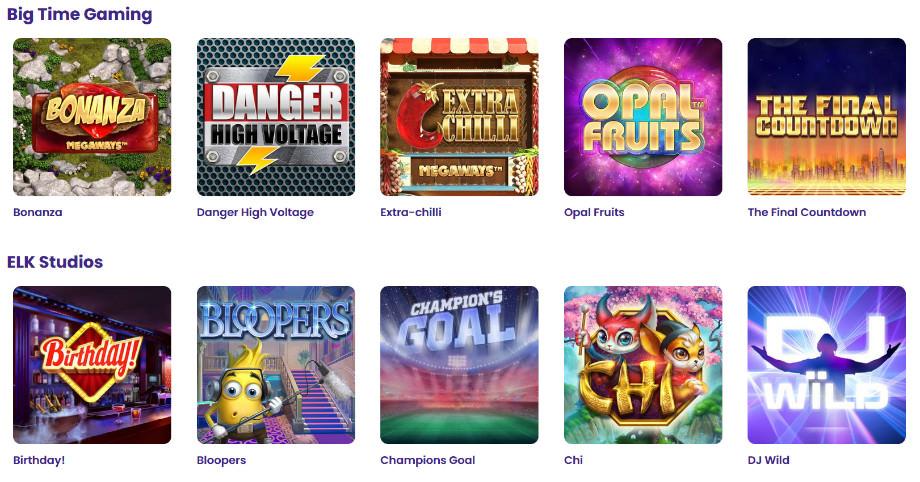 Verschiedene Casino Spiele bei Wildz