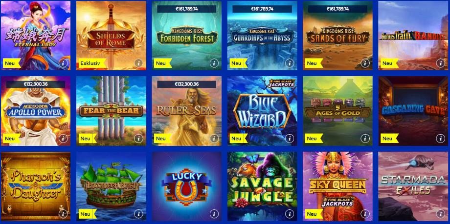 Verschiedene Casino Spiele bei William Hill