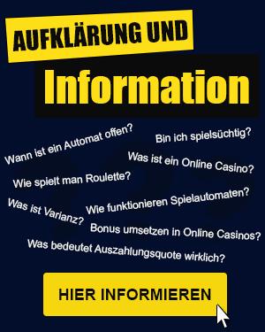 Aufklärung und Informationen rund ums Online Casino Spiel