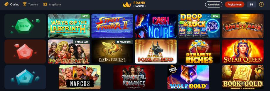 Frank Casino Titelbild