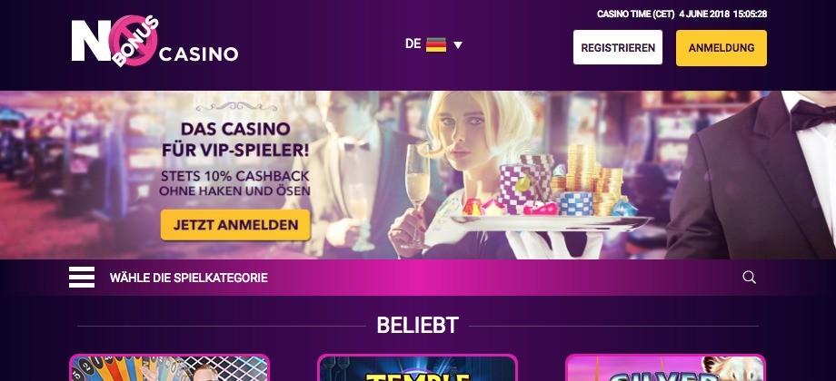 No Bonus Casino Titelbild