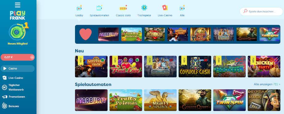 PlayFrank Casino Titelbild