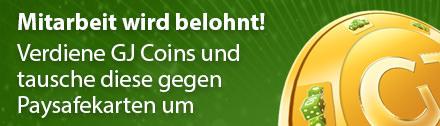 GJ Coins: Mitarbeit zur Verbesserung von GambleJoe wird belohnt!