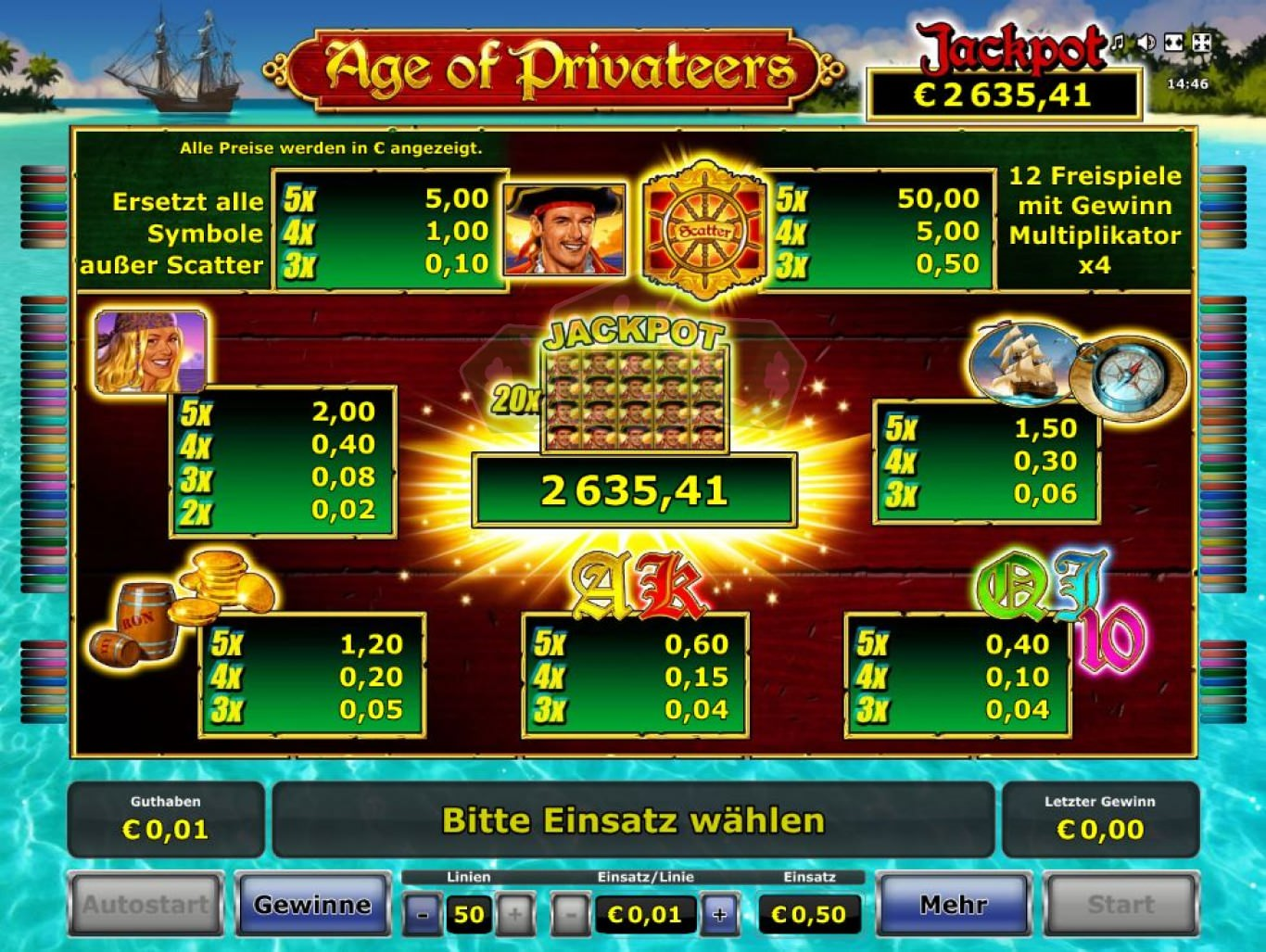 Age Of Privateers Slot Machine