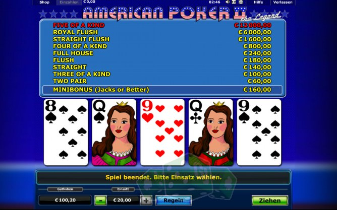 best online casino games poker american 2