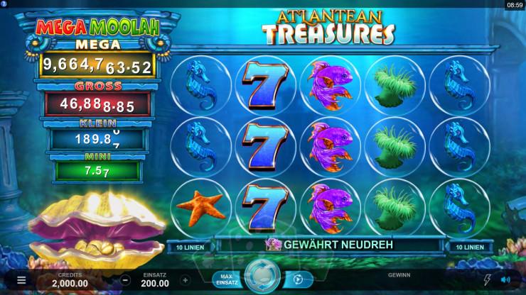 Atlantean Treasures Mega Moolah Titelbild