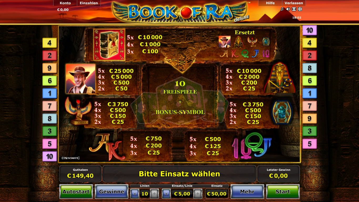 Novoline Games Book Of Ra Free Download