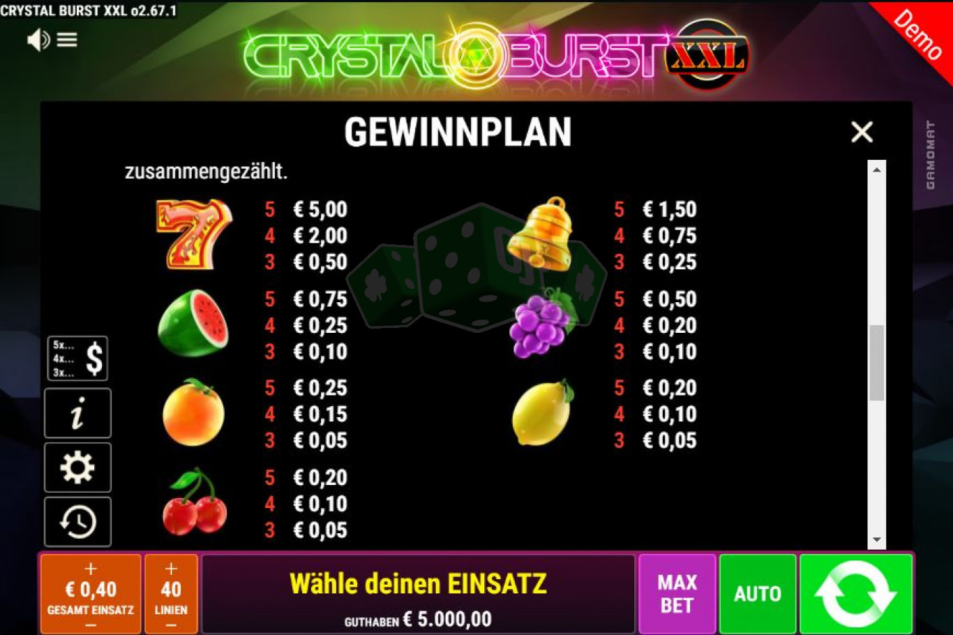 Spiele Crystal Burst XXL - Video Slots Online