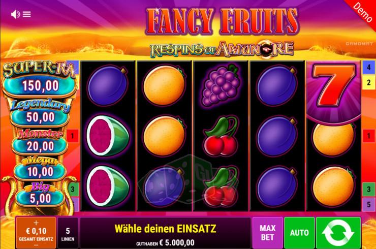 Fancy Fruits Respin of Amun Re Titelbild