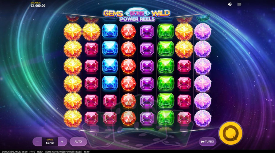 Gems Gone Wild Power Reels Titelbild