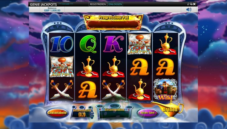 Genie Jackpots Titelbild