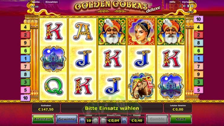 Play Golden Cobras™ Deluxe Online