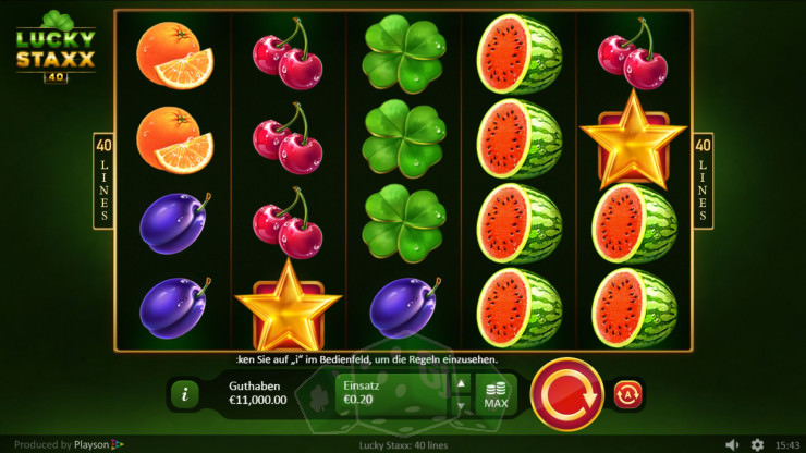 Spiele Lucky Staxx 40 Lines - Video Slots Online