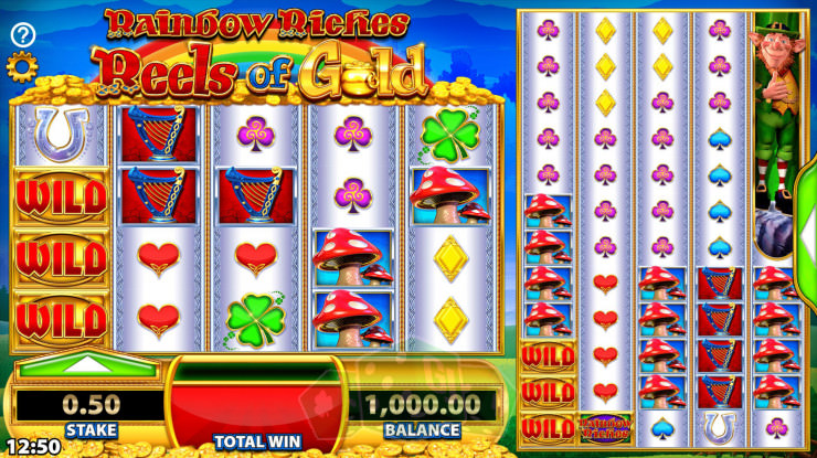 Rainbow Riches Reels of Gold Titelbild