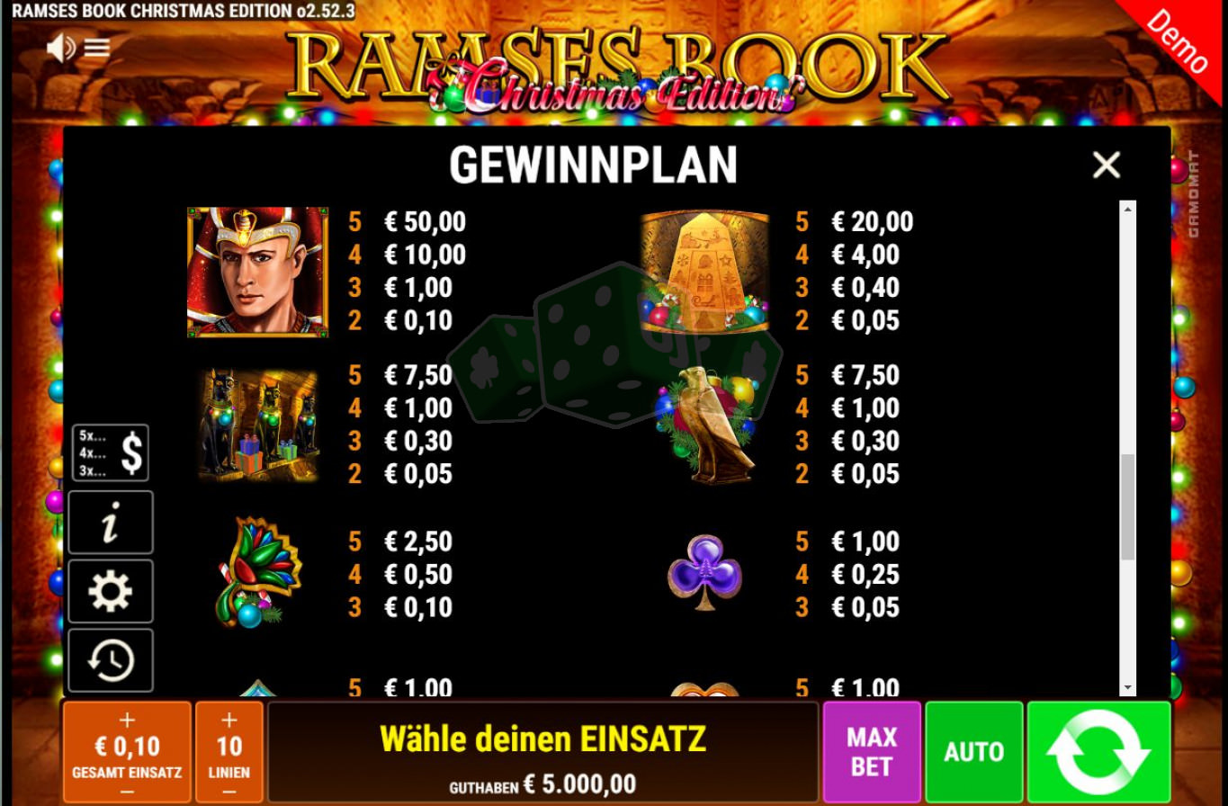 Spiele Ramses Book Christmas Edition - Video Slots Online