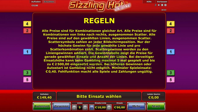 Sizzling Hot Spielen Online