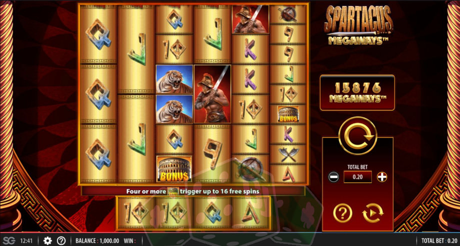 Spartacus Megaways Titelbild