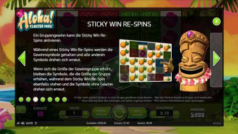 Sticky Win Re-Spins