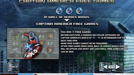 Captain America Freispiele