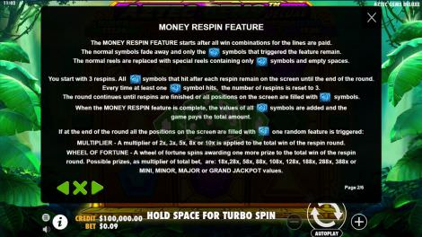 Money Respin Feature