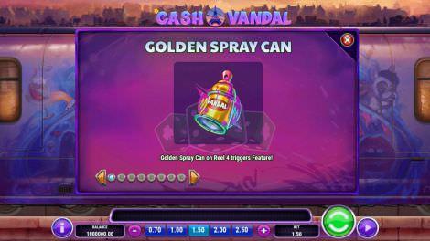 Golden Spray Feature