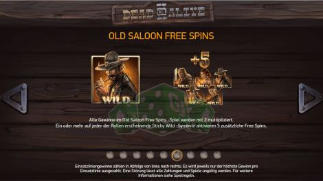 Old Saloon Free Spins