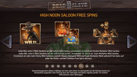 High Noon Saloon Free Spins