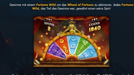 Wheel of Fortuno bei Dr Fortuno