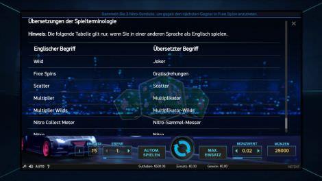 Übersetzungen der Spielterminologie