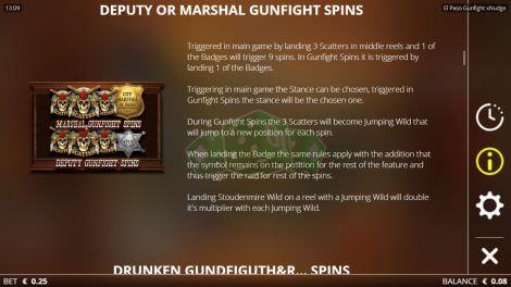 Deputy or Marshall Gunfight Spins