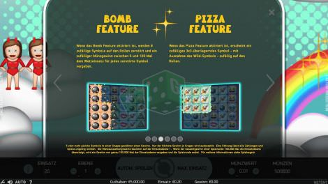 Bomb Feature and Pizza Feature