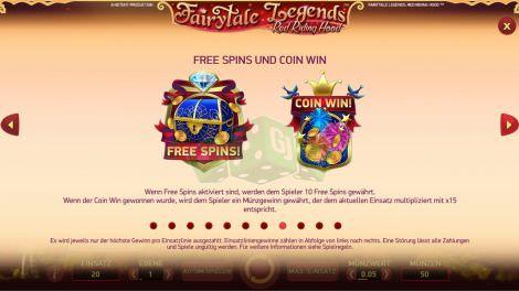 Free Spins und Coin Win