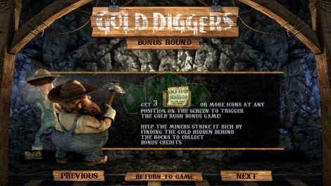 Gold Diggers Bonus Round