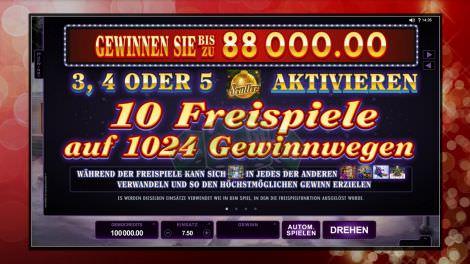 Freispiele auf 1024 Gewinnlinien